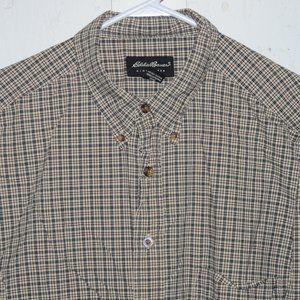 Eddie bauer button up mens shirt size XL T J769